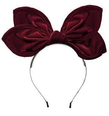 Project 6 Growing Orchid Velvet Headband - Burgundy
