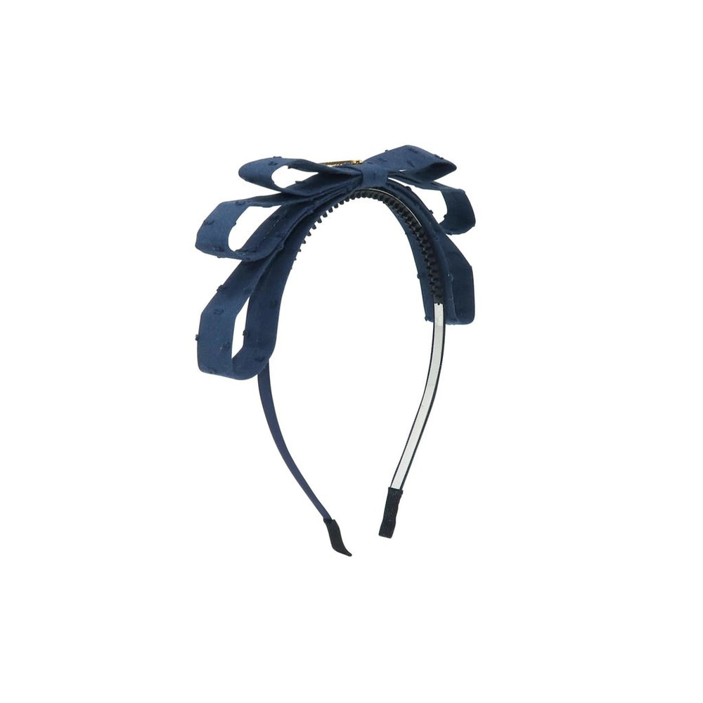 Heirlooms Swiss Dot Triple Layer Headband - Navy