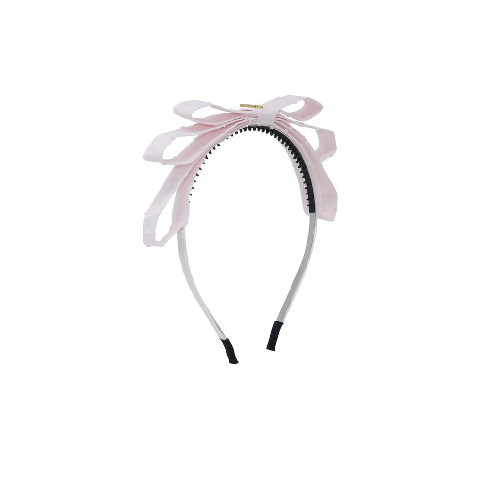 Heirlooms Swiss Dot Triple Layer Headband - Pink