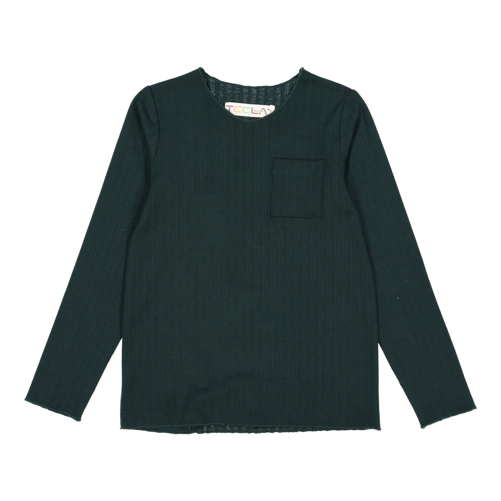 Teela Boys Ribbed Top - Hunter Green