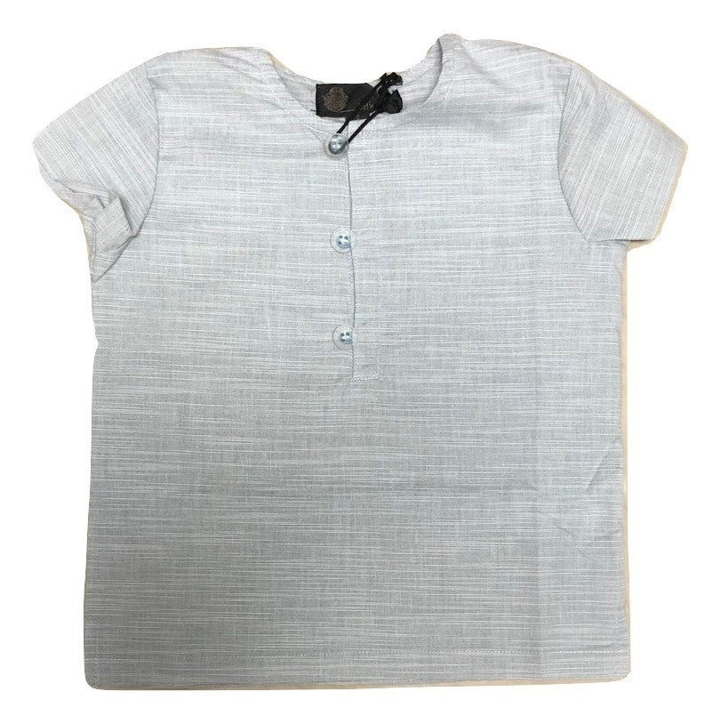Little Cocoon Clear Button Shirt - Blue