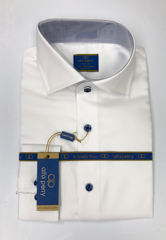 Alfa Perry Blue Buttons Shirt