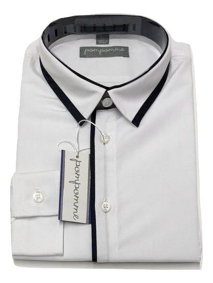Pompomme White Shirt - Blue