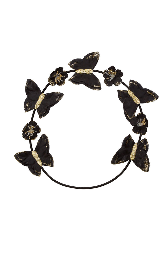 Project 6 Butterfly Wreath - Black/Gold