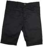 Kipp Polished Cotton Shorts - Black