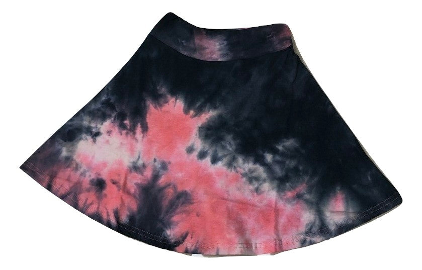 Three Bows Tie Dye Skirt - Pink