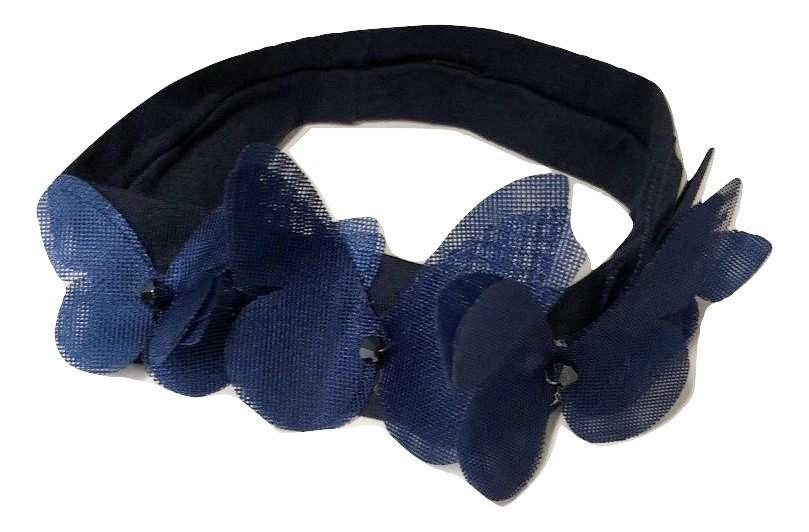 Blinq Baby Mesh Butterfly Headband - Navy