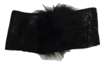 Blinq Metallic Pompom Headwrap - Black