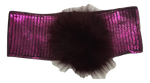 Blinq Metallic Pompom Headwrap - Mulbury