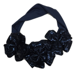 Blinq Baby Metallic Leatherette Headband - Navy