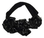 Blinq Baby Metallic Leatherette Headband - Black
