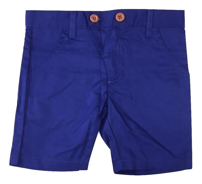 Kipp Polished Cotton Shorts - Cobalt