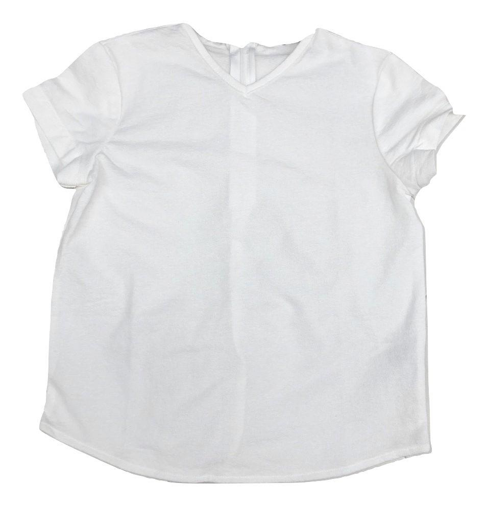 Petit Clair Boys V-neck Top - White