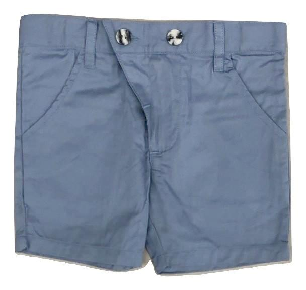 Kipp Polished Cotton Shorts - Blue