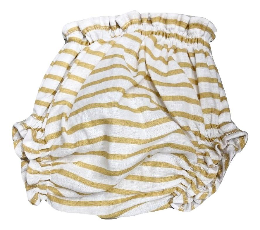 Melico Miki Striped Yellow Bloomer