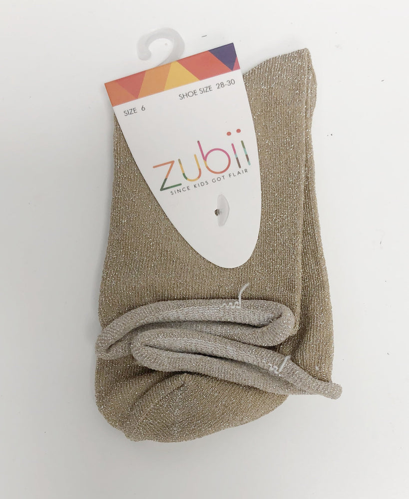 Zubii Ankle Sock - Sparkle Gold