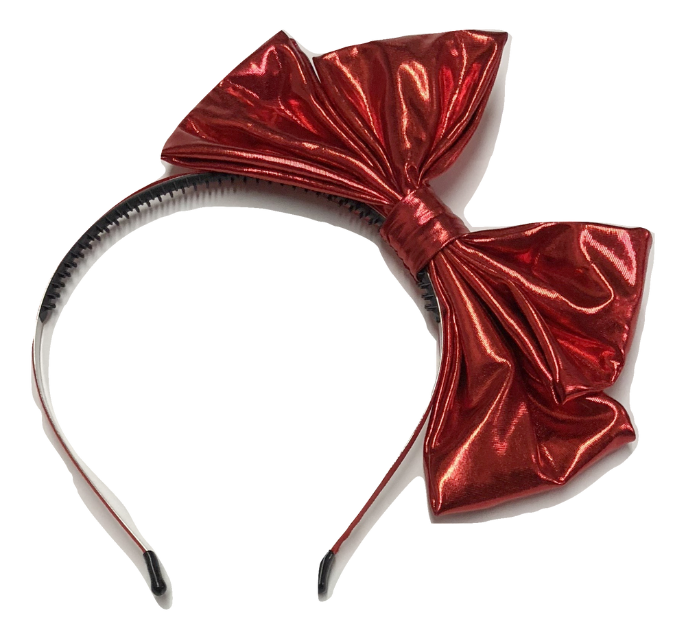 Mini Mrs Metallic Pop Up Bow - Red