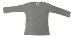 Crew Ribbed Long Sleeve Top - Grey
