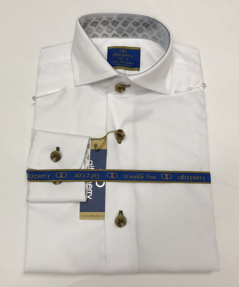 Alfa Perry Boys Shirt - Diamond Contrast