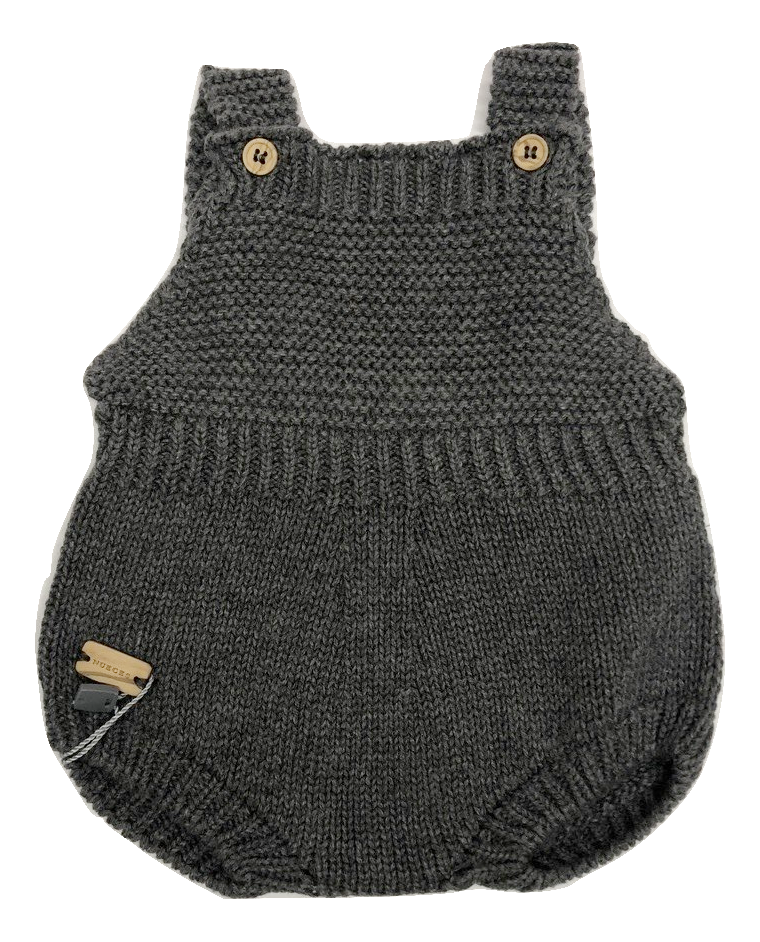 Nueces Knit Baby Romper - Grey