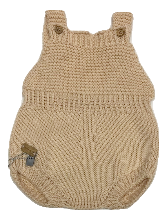Nueces Knit Baby Romper - Rose