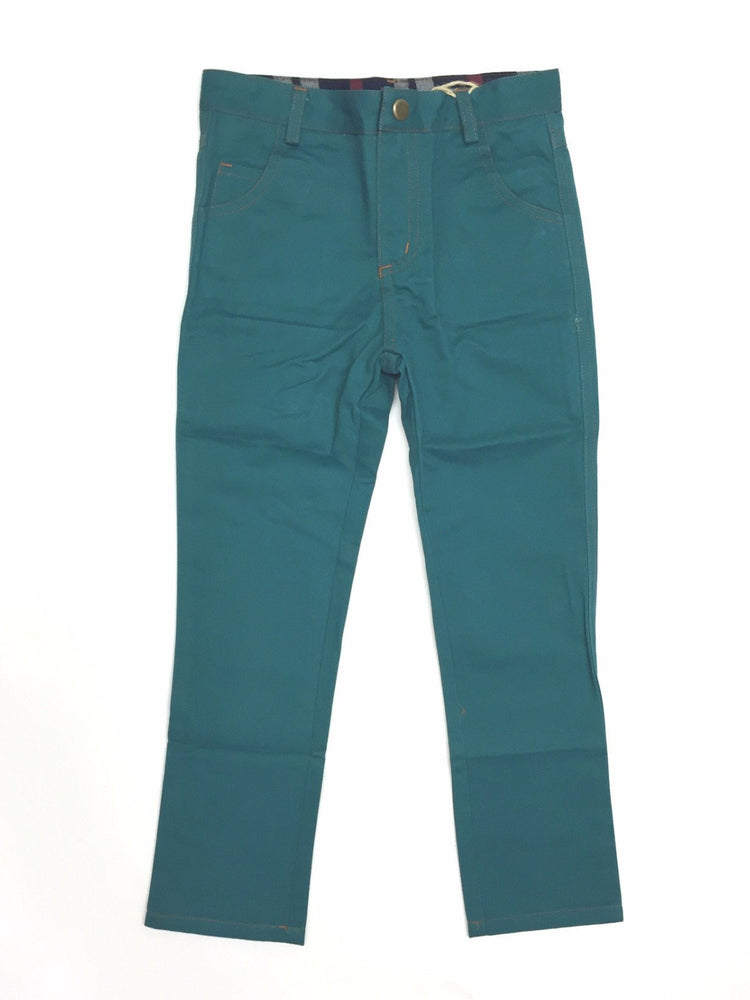 Crew Kids Long Chino Pants - Teal