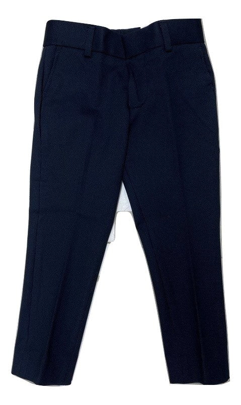 T.O Collections Skinny Stretch Dress Pants - Blue Pin Dot