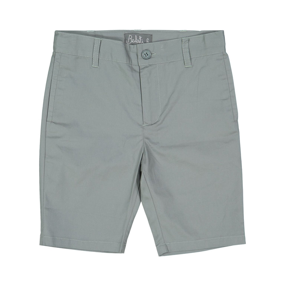 Belati Straight Cotton Bermuda - Grey