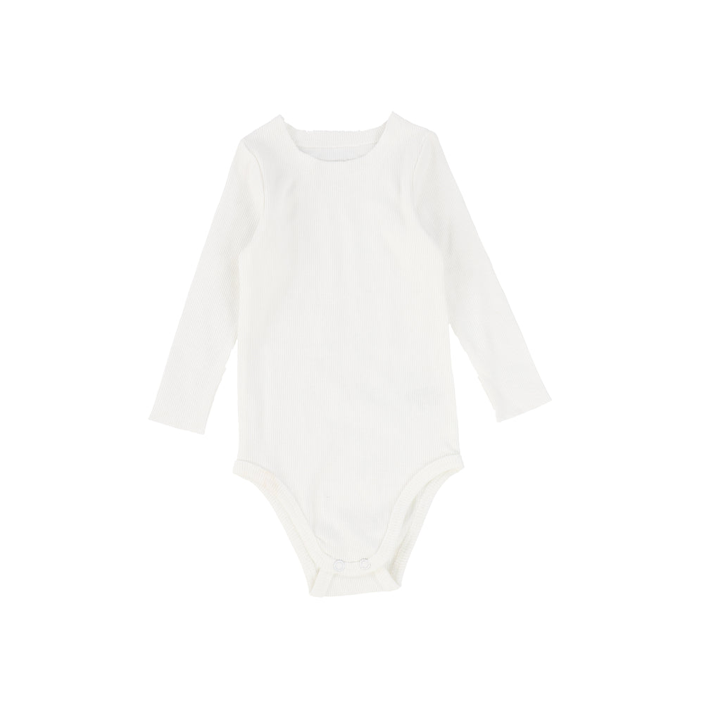 Lil Legs Ribbed Long Sleeve Onesie - Winter White