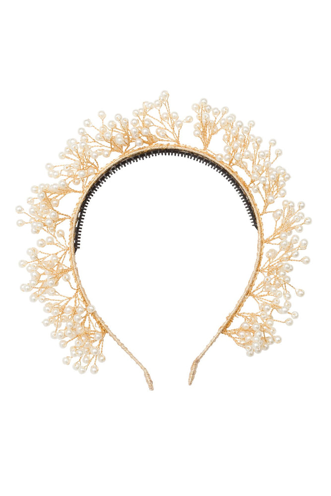 Project 6 Baby's Breath Headband -  Pearl