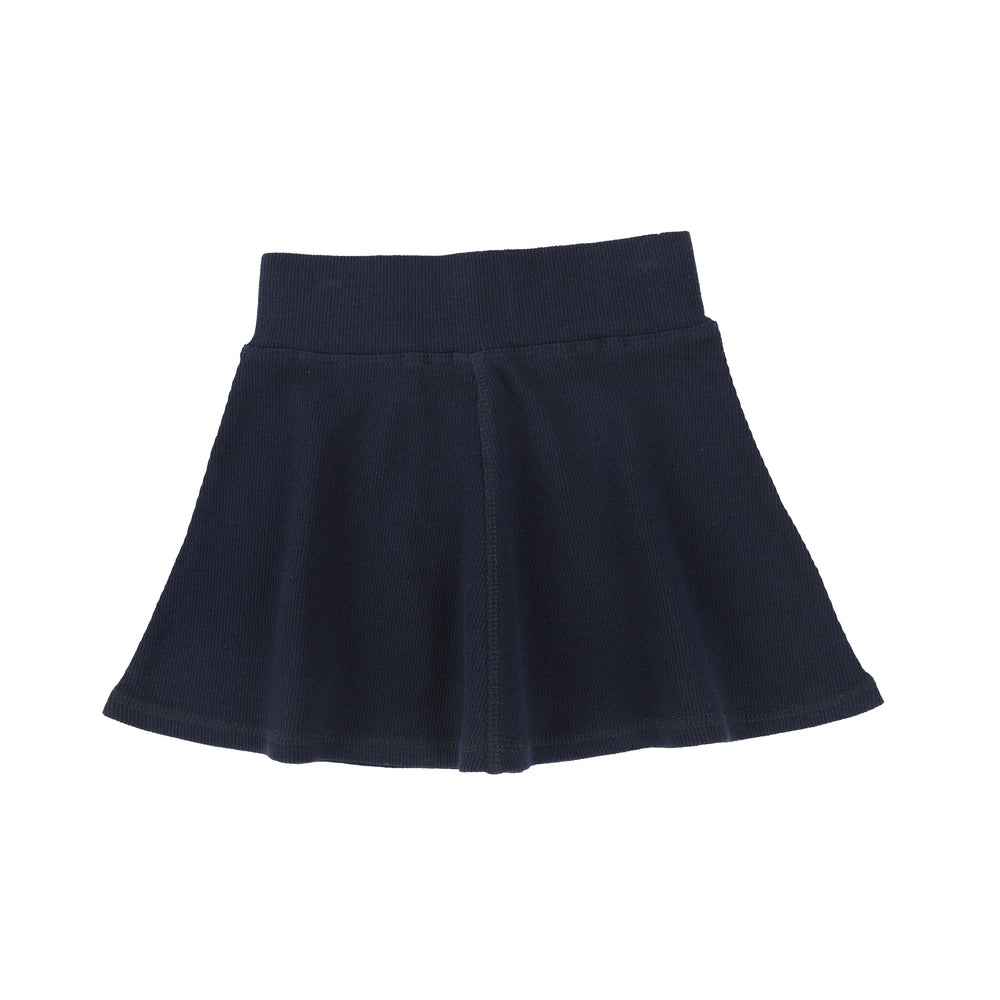 Lil Legs Ribbed Skirt - Navy
