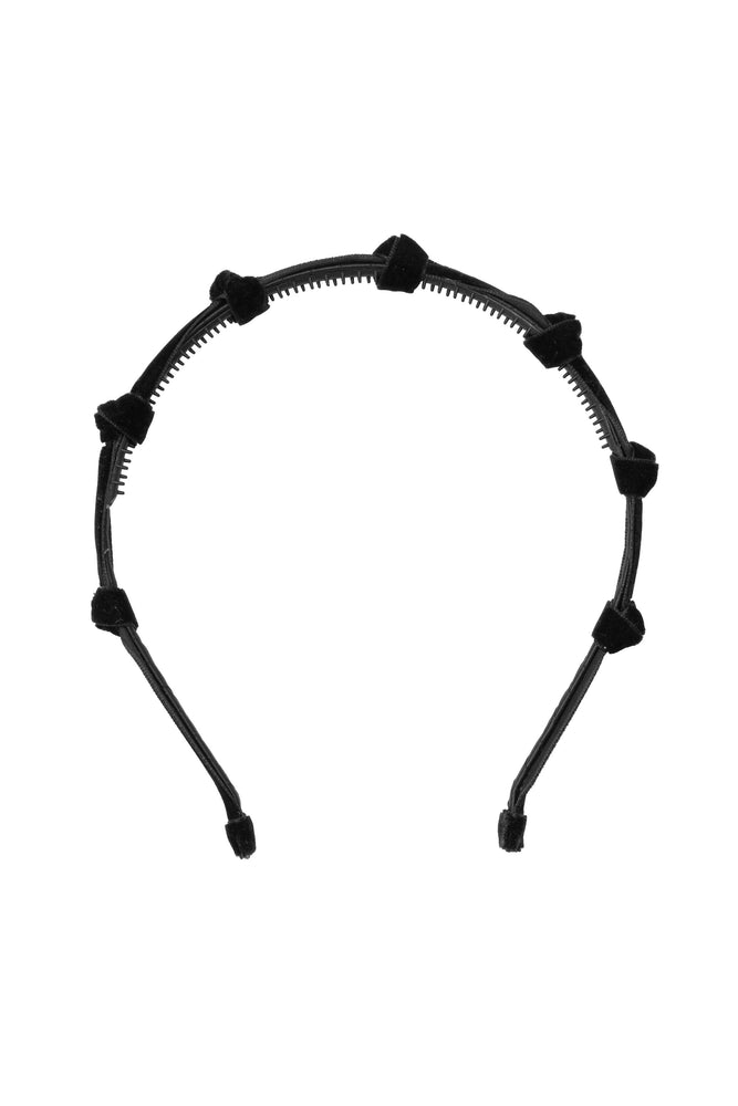 Project 6 Rosebud Headband - Black Velvet