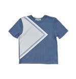 Blumint Toddler Boys Triangle Top - Blue and White