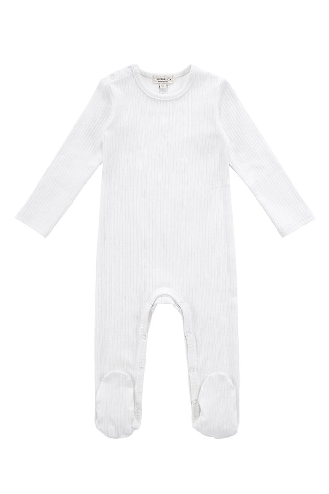 Petit Clair Baby Footsie - Ivory