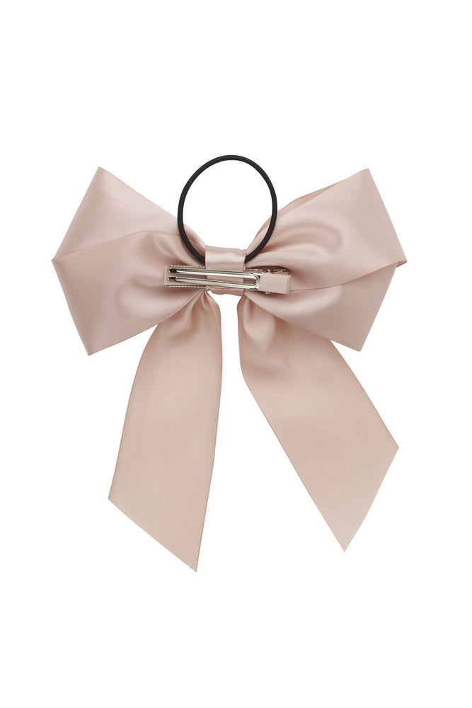 Project 6 Oversized Bow Pony & Clip - Vanilla