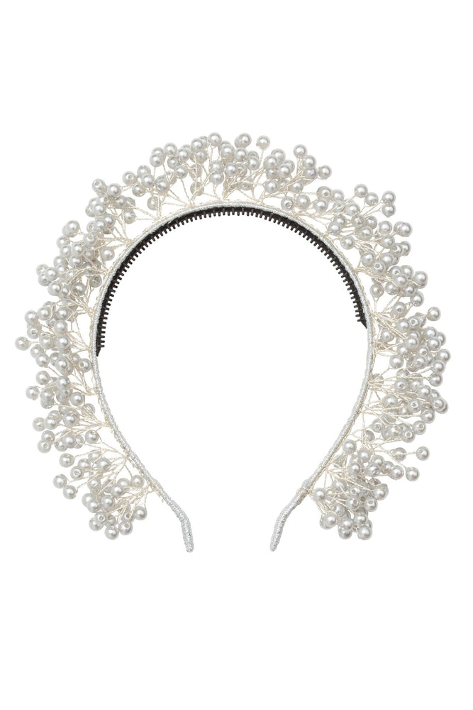 Project 6 Baby's Breath Headband - Silver Pearl