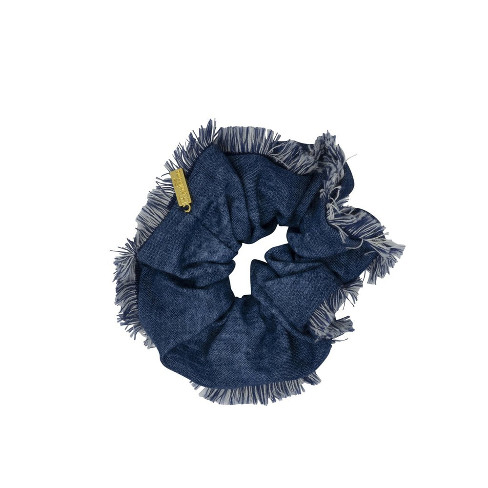 Heirlooms Frayed Denim Scrunchy