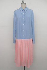 Pleat Shirt Dress