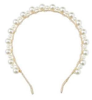 Project 6 Uneven Pearls Headband