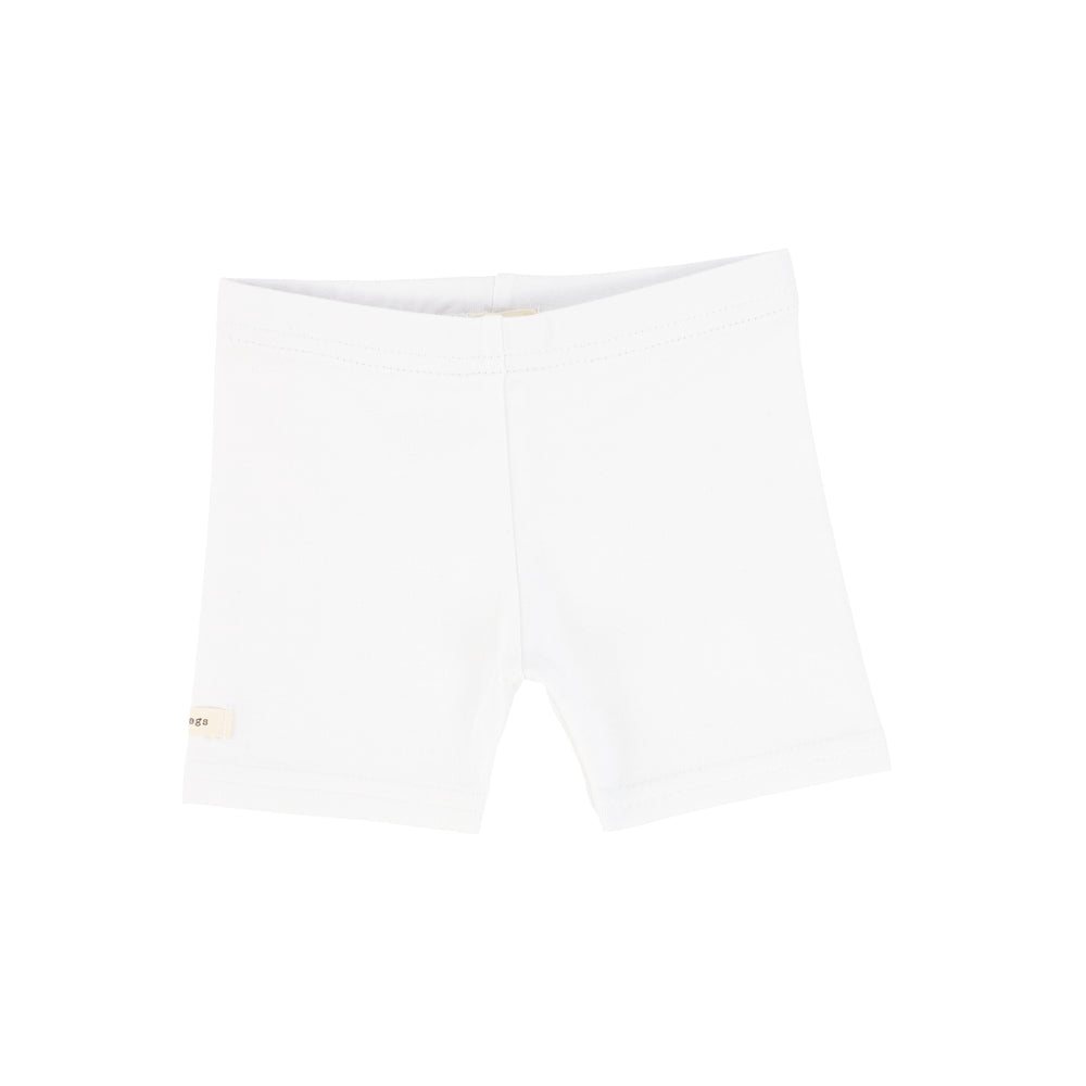 Lil Legs Biker Shorts - Pure White