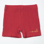 Mouche Kids Ribbed Shorts - Red