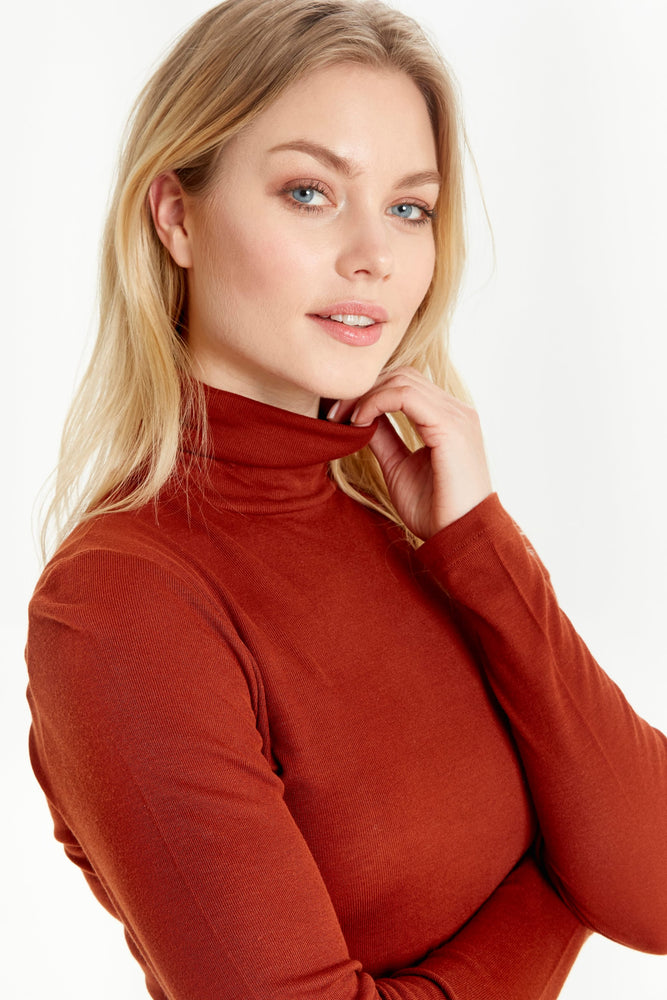 Roll Neck Top - Copper