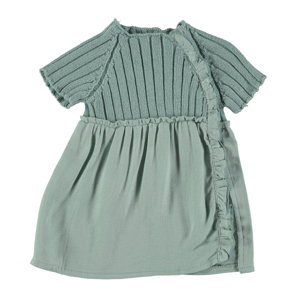 Violeta e Federico Lulu Rib Dress - Green