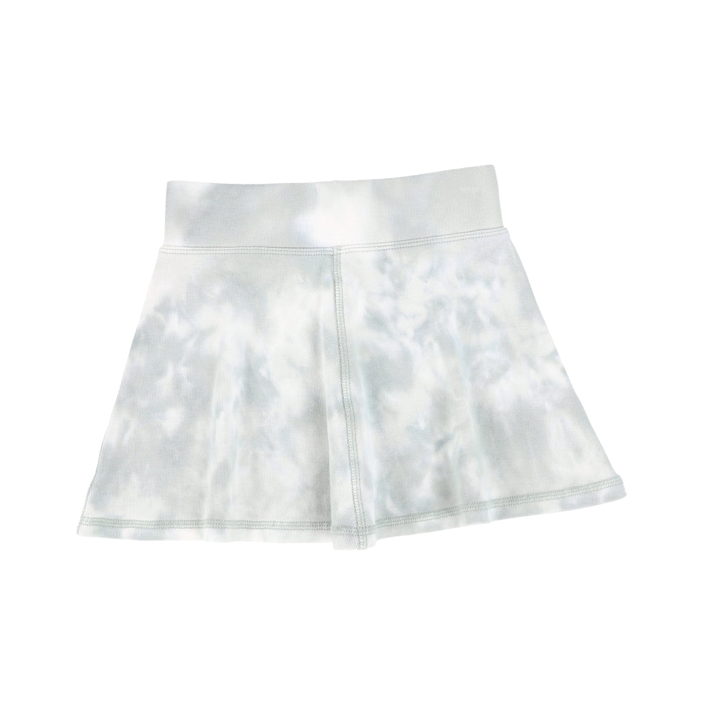 Analogie by Lil Legs Watercolor Skirt - Seafoam