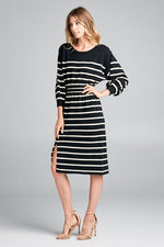Stripe Knit Dress