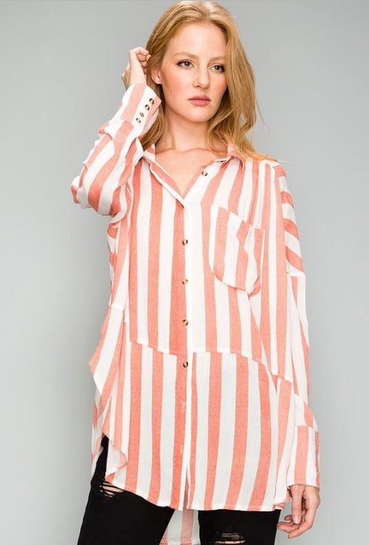 Stripe Top - Red