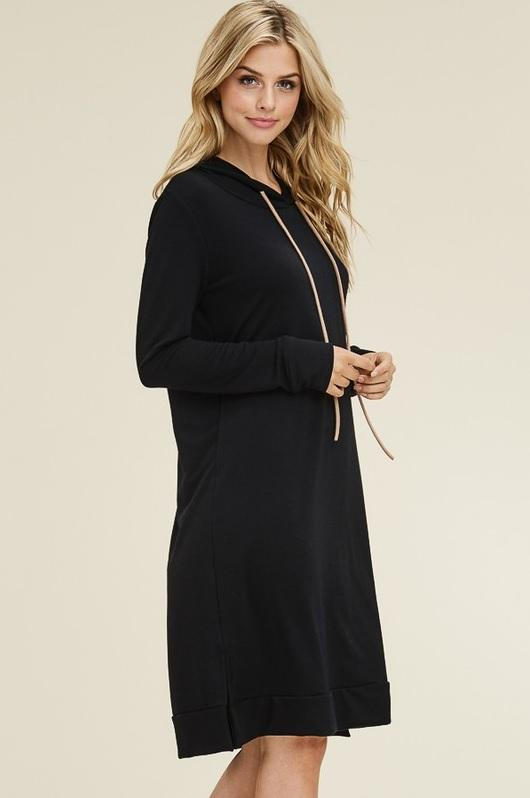 Sweatshirt Dress - Black