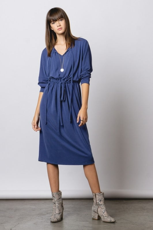 Tie Dress - Blue