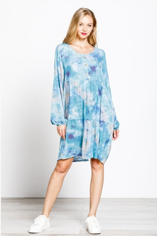 Tie Dye Crinkle Dress