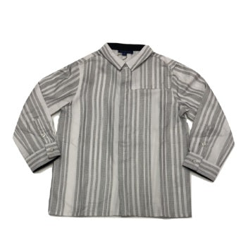 Alfa Perry Black and White Striped Shirt